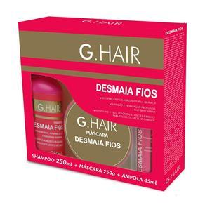 G. Hair Kit Desmaia Fios Shampoo, Máscara e Ampola