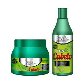 Kit Cresce Cabelo Máscara 250g + Shampoo 500ml Forever Liss