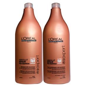 Kit Loréal Absolut Repair Pós Quimica - Shampoo + Condicionador + Pump