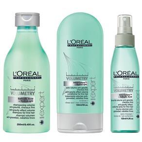 Loreal Expert Volumetry Kit Shampoo, Condicionador e Spray de Volume