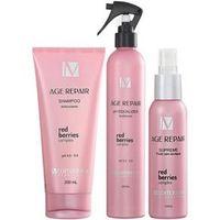 Mediterrani Age Repair Kit Shampoo ( 200ml ) , Ph Equalizer ( 300ml ) e Supreme Fluído ( 120ml )
