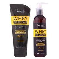 Power Whey Fit Cream Yenzah - Kit Shampoo + Leave - In Kit