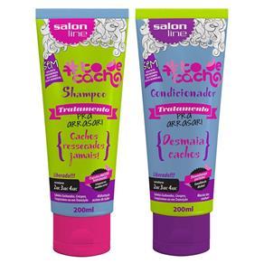 Salon Line Kit Arrasar Shampoo e Condicionador de Tratamento #todecacho - 2x200ml