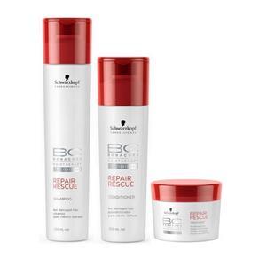 Schwarzkopf Bc Bonacure Repair Rescue Kit Shampoo, Condicionador e Máscara