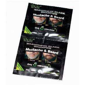Shampoo Escurecedor De Barba Dexe Black Beard 2X15Ml