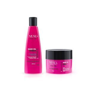 Shampoo + Máscara Hidratante Waves Nano Oil Curls - Munila - 7898611381310c