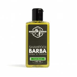Shampoo para Barba Fresh Woods Barba Brava 140ml