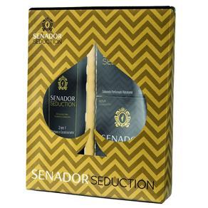 Kit Banho Senador Seduction Shampoo 2 em 1 200ml + Sabonetes Hidratante 130g