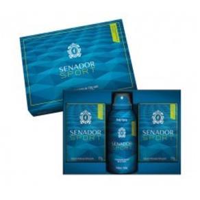 Kit Senador Sport Com 2 Sabonetes 130G + Body Spray Aerosol