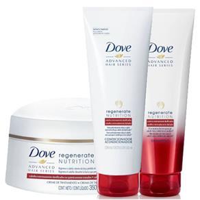 Dove Regenerate Nutrition Kit Shampoo 200Ml + Condicionador 200Ml + Creme De Tratamento 350G