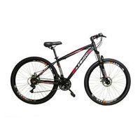 Bicicleta AZONIC cambios Shimano aro 29 freio a disco 21v - VERMELHA - Quadro 17 vermelho