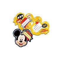 Convite Grande Mickey Clássico C / 8 Unidades Único