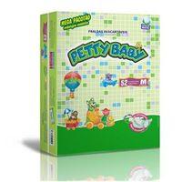 Fralda Petty Baby - Mega Pacotão M - 312 Unidades + Toalhinha Umedecida Petty Baby 50 unidades