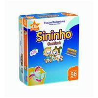 Fralda Sininho Confort Hiper Pacotão XXG - 224 Unidades + Toalhinha Umedecida Personalidade 50 unidades