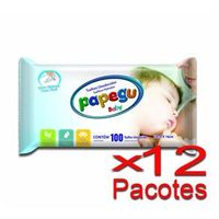 Toalhinha Umedecida Papegu Baby 100 Unidades - 12 Pacotes