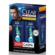 Kit Clear Shampoo Anticaspa 2 em 1 Ice Cool Menthol 200ml 2 Unidades