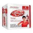 Kit Sabonete Lifebuoy Antibacteriano Total 85g 3 Unidades