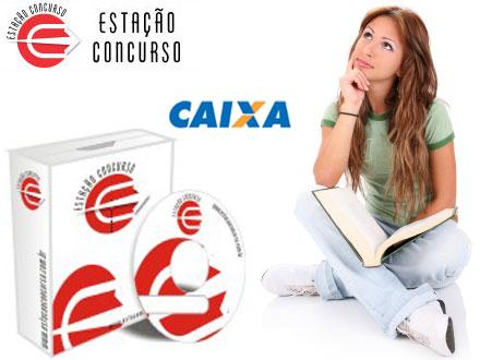 Curso Preparatório para Concurso da Caixa Econômica Federal (Técnico Bancário), na Estação Concursos, de 47,00 por 14,90.