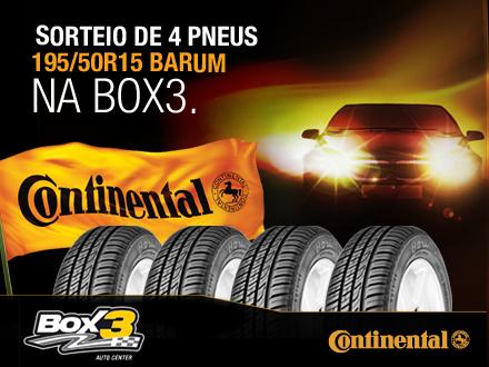 Sorteio de 4 pneus 195/50R15 Barum na Box 3 Centro Automotivo. (1 Sorteado)
