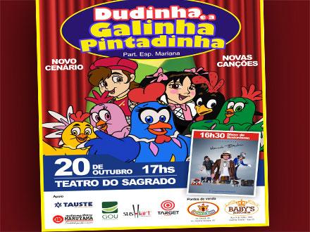 Ingresso para o Show da Galinha Pintadinha + Show de Mágica no Sagrado Coração de Jesus, de 40,00 por 16,90.