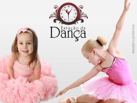 1 Mês de Ballet Infantil ou Baby Class (1 Vez por Semana), de 60,00 por 9,99 na Estação da Dança.