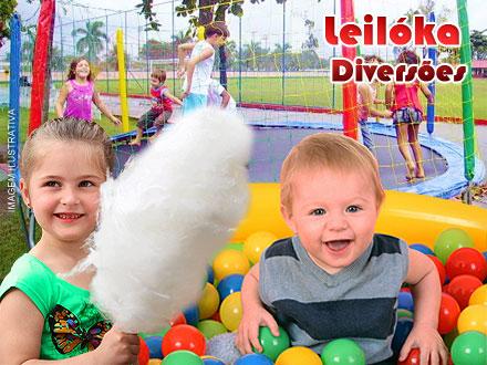 A Diversão está garantida! Locação de Brinquedos para Festa Infantil na Leilóka Diversões, de 350,00 por apenas 135,00.