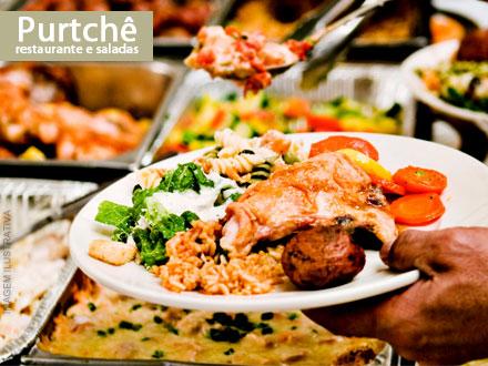 Pague 3,99 e tenha 50% de Desconto no Quilo do Buffet com Churrasco do Purtchê Restaurante e Saladas!