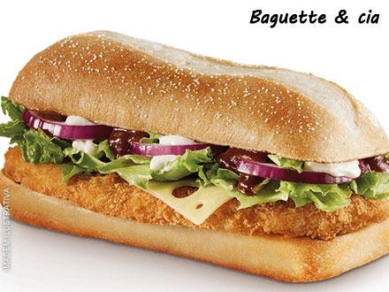 Escolha entre Baguete de Frango, Carne ou Vegetariana + DELIVERY GRÁTIS na Baguette & Cia, a partir de 12,99.