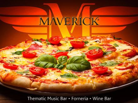 Exclusividade!! Escolha qualquer Pizza do Cardápio da Maverick, de até 63,00 por apenas 37,80.
