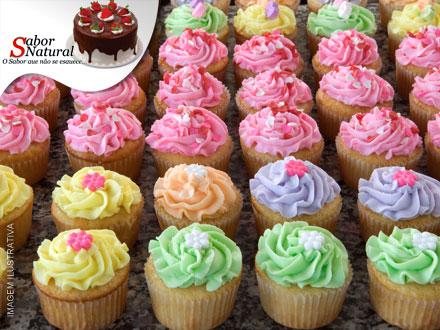 Gostosura da Sabor Natural! 30 Deliciosos Mini Cupcakes com opções, de 60,00 por apenas 19,90.