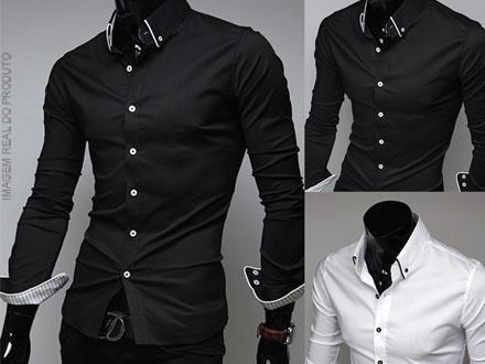 Camisa Social Slim Fit (4 Opções de Cor) por apenas 49,90. Frete Grátis!