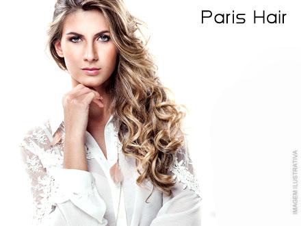 Luz de Photon Ultra Violeta + Hidratação de Auto Impacto + Escova + Prancha + Finalização com Óleo Diamond no Paris Hair: 69,90.