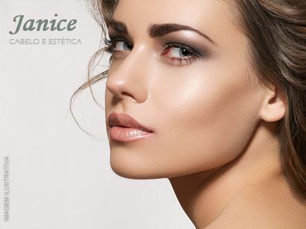 Arrase com seu novo olhar! Design de Sobrancelhas + Henna (Opcional) na Janice Cabelo e Estética, por apenas 9,90.