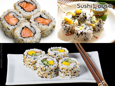 Combinado de Comida Japonesa com 36 Peças no Sushi House, por apenas 15,99.