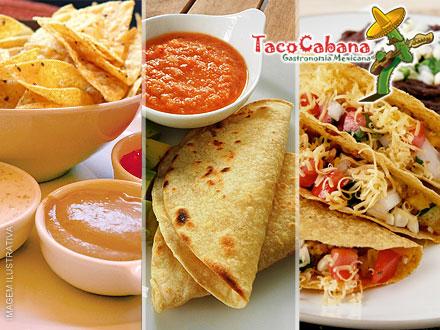 Porção de Nachos + Dois Tacos + Quesadilla ou Enchilada no Taco Cabana, por apenas 29,90.