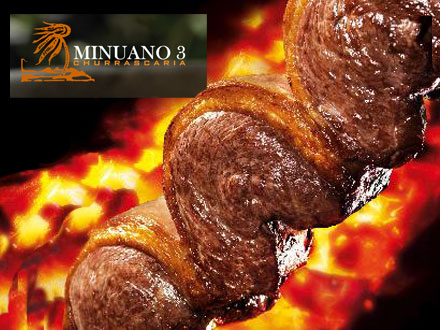 Melhor Almoço de Franca! Rodízio Completo + Mesa de Frios Espetacular + Comida Japonesa na Churrascaria Minuano 3, por 29,99.