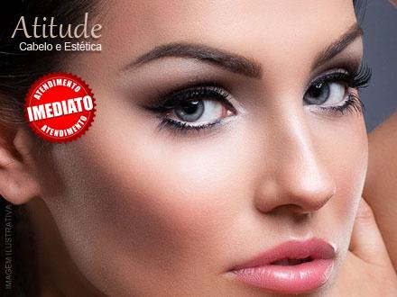 Design de Sobrancelhas + Aplicação de Henna na Atitude Cabelo e Estética, por apenas 14,90.