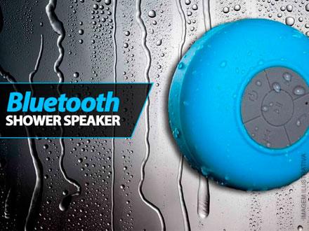 Caixa de Som Bluetooth à Prova D´Água, por 58,90. Ouça música no banho, na piscina e muito mais! Frete grátis!
