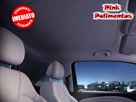 Lavagem do Interior do Teto do Carro no PINK Polimentos, de 90,00 por apenas 19,90.