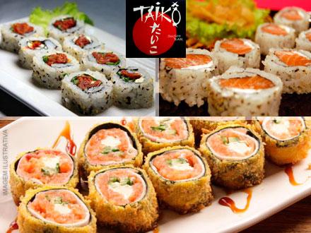Ultimos Cupons! Combo com 40 Unidades de Sushi do Taiko Sushi Bar, de 75,00 por apenas 19,50. Desconto de 74%!