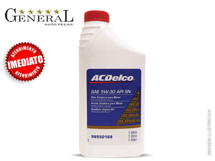 Kit de Óleo ACDelco 5w-30 API SM Semi Sintético - 3 Litros - na General Auto Peças, por apenas 48,00.