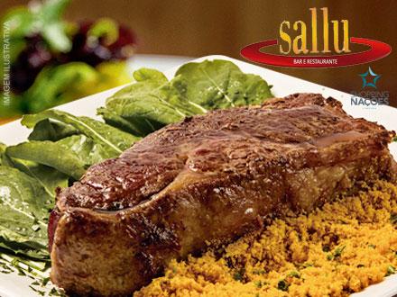 BIFE ANCHO! Um dos mais Nobres Cortes Argentinos + Acompanhamentos no Sallu Restaurante por 31,90. Serve até 2 pessoas.