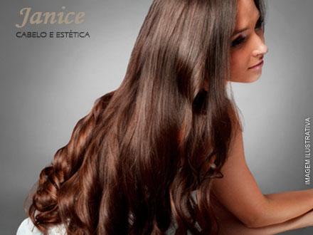 Escova Progressiva + Modeladora ou Corte na Janice Cabelo e Estética, de 150,00 por apenas 49,99.