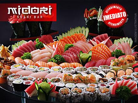 Rodízio Simples Individual no Almoço ou Jantar no Novo Midori Sushi Bar, por apenas 22,90. Em novo endereço!