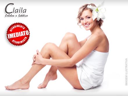 Fique livre dos pelos! Depilação de Axilas + Buço + Virilha Completa na Claíla, por apenas 9,90.