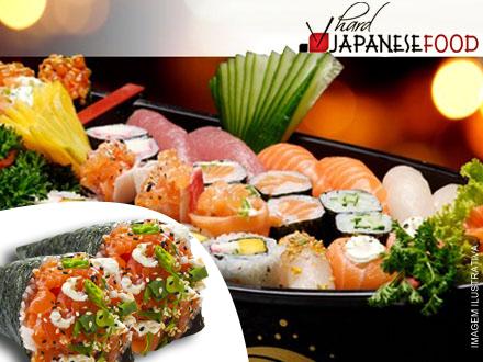 Combinado Especial com 30 Peças + 2 Temakis no Hard 3 Japanese Food, de 128,00 por 39,90.