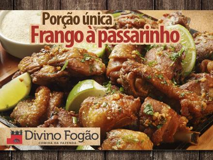 Tábua Mista no Divino Fogão com Frango a Passarinho + Polenta Frita + Batata Frita) por apenas 14,90. Atendimento imediato!