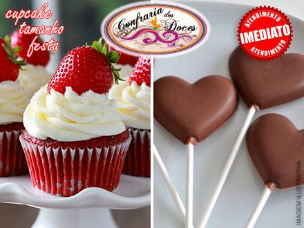 Cupcake Tamanho Festa ou Pirulito de Chocolate ao Leite na Confraria dos Doces, por apenas 0,99! Compre quantos cupons quiser!