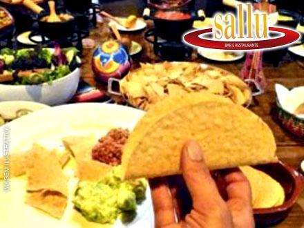 Noite mexicana no Sallu!! Buffet Mexicano Completo à Vontade + Sobremesa, por 34,90. Atenção: Cupons limitados!