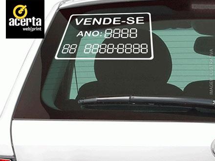 Precisa vender seu carro? Adesivo para Carro + Instalação Grátis na Acerta Web Print, por apenas 14,94.